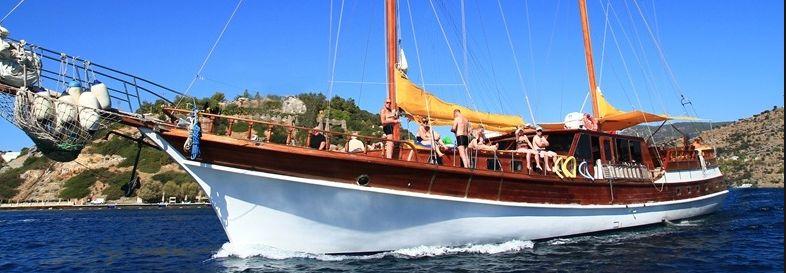 Туры на яхтах в Кемере - активный отдых в Турции