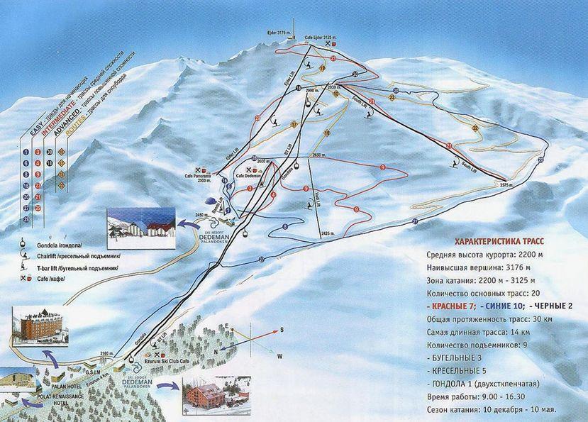 Курорт Паландокен - зимний отдых в Турции
