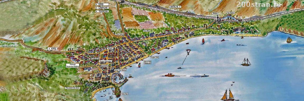 Карта Кемера Турция