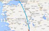 маршрут на карте из Анталии до Стамбула
