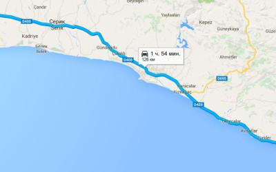 маршрут аэропорт алания анталья